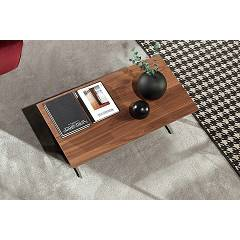Tonin Casa Empire 6036 Coffee table in metal and wood, l. 110 x 55