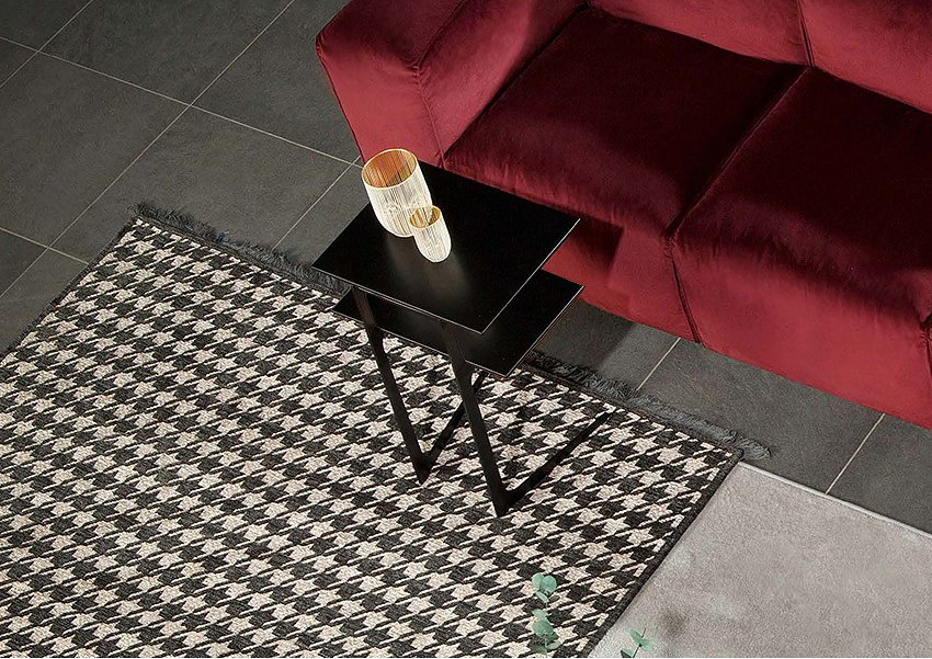 Photos 1: Tonin Casa EMPIRE 6440 Table in metal and wood l. 50 x 38