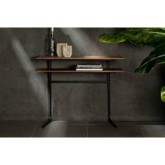 Tonin Casa Empire 6439 Fixed console in metal and wood l. 100 x 40