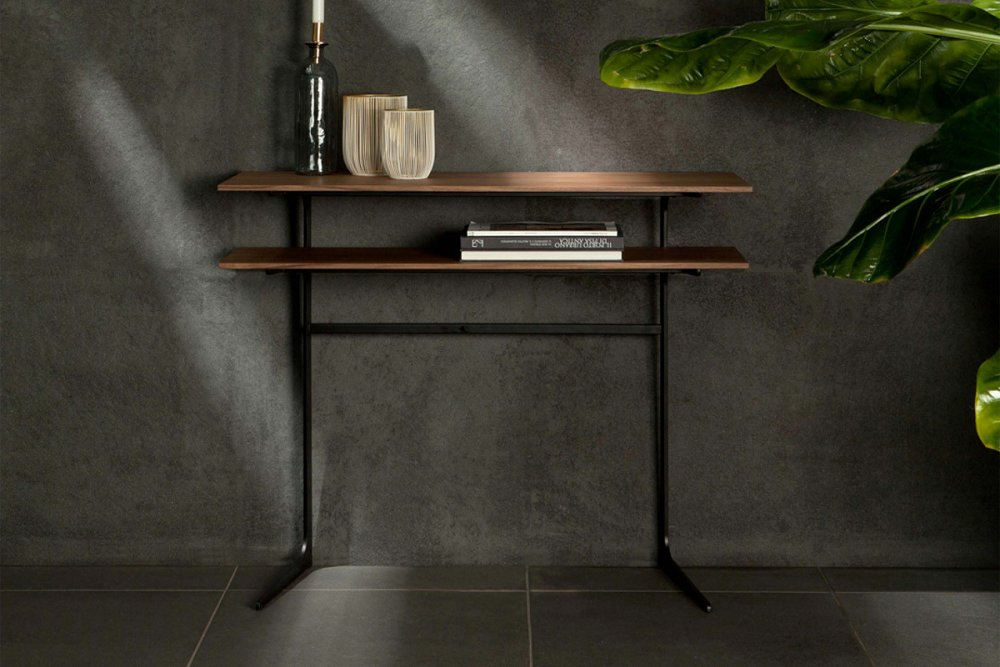 Photos 1: Tonin Casa EMPIRE 6439 Fixed console in metal and wood l. 100 x 40