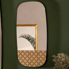 Tonin Casa Marguerite 6465 Small Mirror oval l. 40 x 80