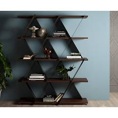 Tonin Casa Castle 7250b Bookcase in metal and wood, l. 140 x 41 h. 180
