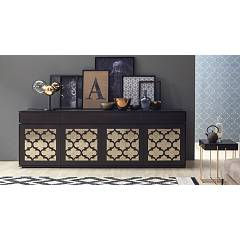 Tonin Casa Marrakesh 8715 D Sideboard in wood with 4 doors and 4 drawers l. 244