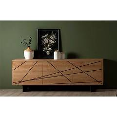 Tonin Casa Maya 8631 Sideboard in wood with 3 doors l. 214