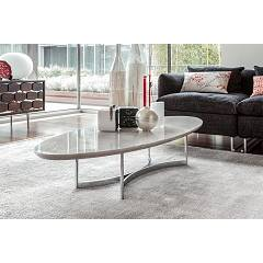 Tonin Casa Parioli 7315p Oval table in metal and marble l. 130 x 60