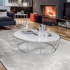 Tonin Casa Amburgo 6287 Round table in metal d. 100