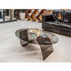 Tonin Casa Alissa 6806e Glass oval table l. 117 x 78