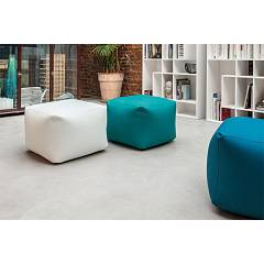 Tonin Casa Truly 7300 Pouf quadro in eco-leather