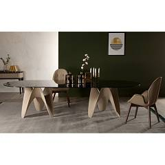 Tonin Casa Big Gaya 8074f Ok Fixed ovoidal table l. 260 x 120