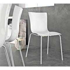 Tonin Casa Aria Easy 7204 Stackable chair in metal and plastic