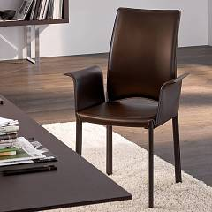 sale Tonin Casa Madeleine 7268b Armchair Covered In Leather