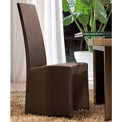 Tonin Casa Sorbona 7295 Chair covered in eco-leather / leather