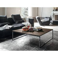 Tonin Casa Central 6281 Fixed square coffee table l. 100 x 100