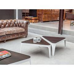 Tonin Casa Adele 6033 Table in metal and wood l. 81 x 72