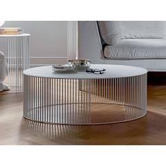 Tonin Casa Andra 6934a Oval table in metal l. 90 x 60