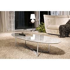 Tonin Casa Parioli 7315 Oval table in metal and marble l. 160 x 60