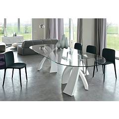 Tonin Casa Big Eliseo 8061f Ok Fixed ovoidal table l. 260 x 120