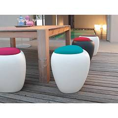 Tonin Casa Ios 8191pf Polyethylene pouf with container compartment