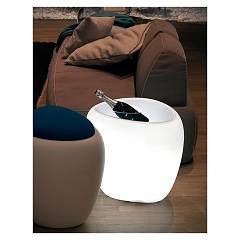 Tonin Casa Ios 8191bl Coffee table with light and portabottiglie l. 51 x 47