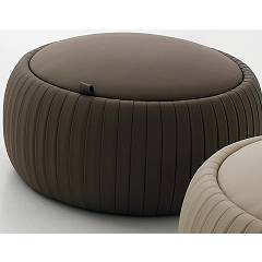 Tonin Casa Plissè 7335p Eco-leaf pouf with container d. 69