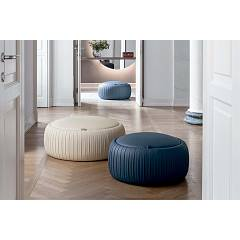 Tonin Casa Plissè 7335g Eco-leaf pouf with container d. 114