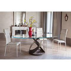 Tonin Casa Capri 8069fs E Fixed oval table l.220 x 105