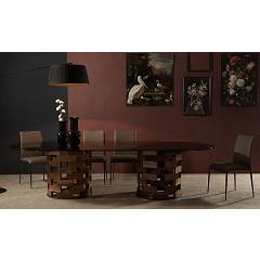 Tonin Casa Big Colosseo 8077 Ok Ovoidal fixed table l. 260 x 120 with double base