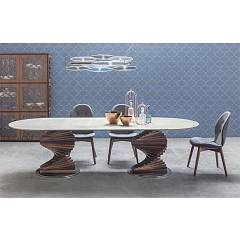 Tonin Casa Big Firenze 8078f Ok Fixed ovoidal table l. 260 x 120