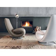 Photos 2: Tonin Casa RICCIOLO 7865 Chaise longue transformable in leather / leather / fabric