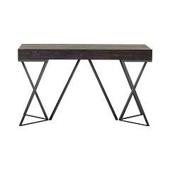 Tonin Casa Beverly Extendable console with painted metal base and melamine top | laminate