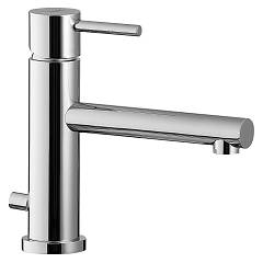 Treemme 5810cl Single lever basin mixer 78 mm - long rod with discharge Vela