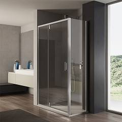 Vanita Docce Atena Corner box cm. 120 x 80 extensibility cm. 117-121 x 77.5-79.5 1 sliding door h 195 + fixed side