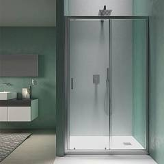 Vanita Docce Vesper190 Corner box cm. 120 x 70 extensibility cm. 117-121 x 67.5-69.5 1 sliding door h 190 + fixed side