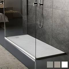 Vanita Docce Look Resin and gelcoat shower tray cm. 80 x 120 h 3 rectangular
