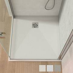 Vanita Docce Cupido Resin and gelcoat shower tray cm. 90 x 90 h 3 square