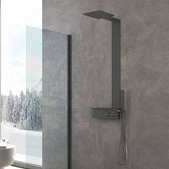 Vanita Docce Vita Multifunction shower column right version cm. 40 h 123 - inox