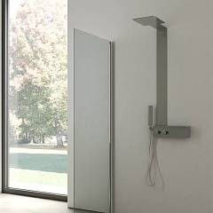 Vanita Docce Vita Multifunction shower column left version cm. 40 h 123 - stainless steel Vita
