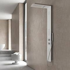Vanita Docce Londra Multifunction shower column cm. 23-h-150 - stainless steel hydrotherapy, chromotherapy Londra