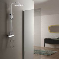 Vanita Docce IDRA Shower column telescopic h 90-140 - brass telescopic thermostatic