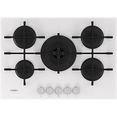 Whirlpool Gowl 758/wh Gas hob cm. 73 - white ceramic glass